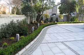 Granite paving tiles