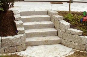 Granite stairs