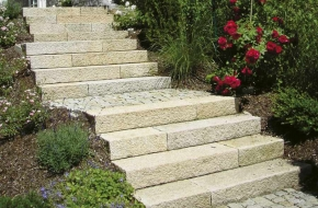 Granite stairs